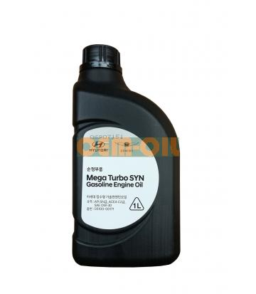 Моторное масло HYUNDAI Mega Turbo SYN Gasoline Engine Oil SAE 0W-30 (1л)