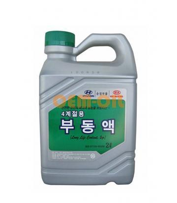 Антифриз концентрированный зеленый HYUNDAI Long Life Coolant 2yr (2л)