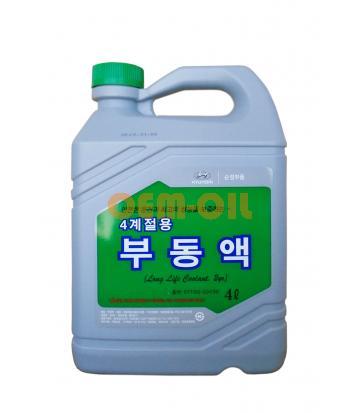 Антифриз концентрированный зеленый HYUNDAI Long Life Coolant 2yr (4л)