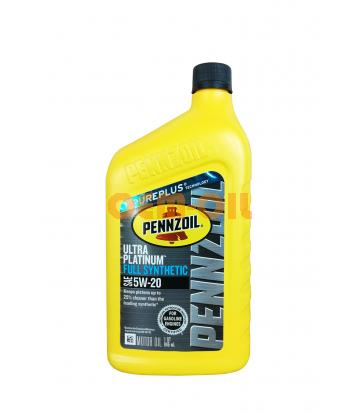 Моторное масло PENNZOIL Ultra Platinum Full Synthetic Motor Oil SAE 5W-20 (Pure Plus Technology) (0,946л)