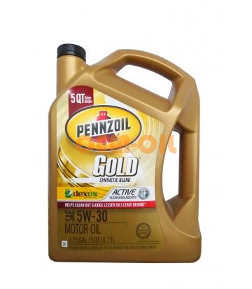 Моторное масло PENNZOIL Gold Synthetic Blend SAE 5W-30 (4,73л)