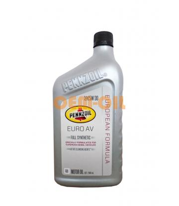 Моторное масло PENNZOIL Euro AV Full Synthetic Motor Oil SAE 5W-30 (0,946л)