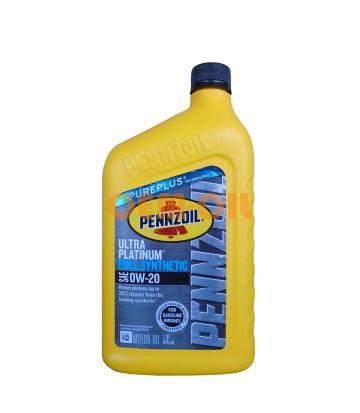 Моторное масло PENNZOIL Ultra Platinum Full Synthetic Motor Oil SAE 0W-20 (Pure Plus Technology) (0,946л)