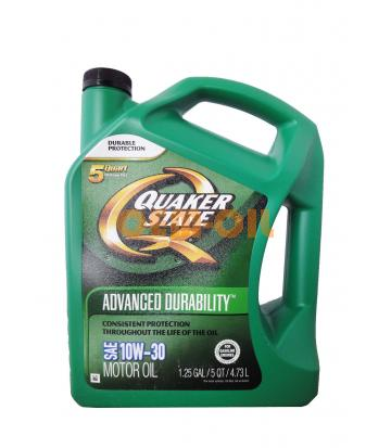 Моторное масло QUAKER STATE Advanced Durability SAE 10W-30 (4,730л)