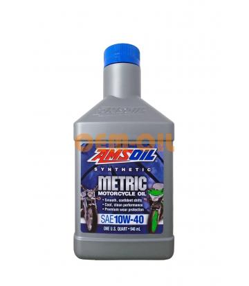 Мотоциклетное масло AMSOIL Synthetic Metric Motorcycle Oil SAE 10W-40 (0,946л)