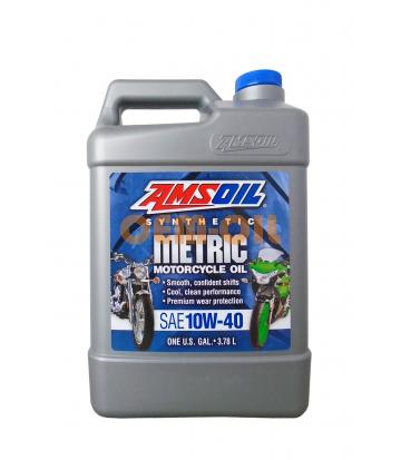 Мотоциклетное масло AMSOIL Synthetic Metric Motorcycle Oil SAE 10W-40 (3,784л)