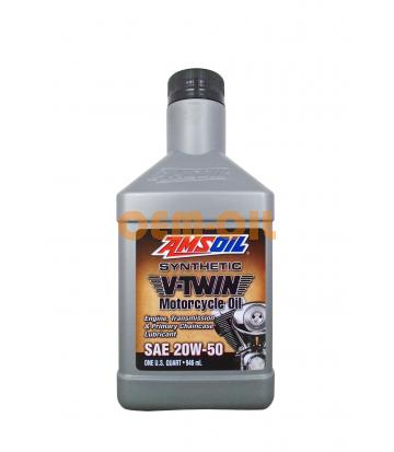 Мотоциклетное масло AMSOIL Synthetic V-Twin Motorcycle Oil SAE 20W-50 (0,946л)