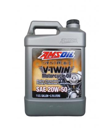 Мотоциклетное масло AMSOIL Synthetic V-Twin Motorcycle Oil SAE 20W-50 (3,784л)