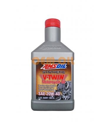 Мотоциклетное масло AMSOIL Synthetic V-Twin Motorcycle Oil SAE 20W-40 (0,946л)*