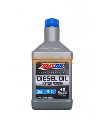 Моторное масло AMSOIL Heavy-Duty Synthetic Diesel Oil SAE 15W-40 (0.946л)