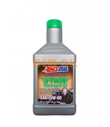 Мотоциклетное масло AMSOIL Synthetic V-Twin Motorcycle Oil SAE 15W-60 (0.946л)
