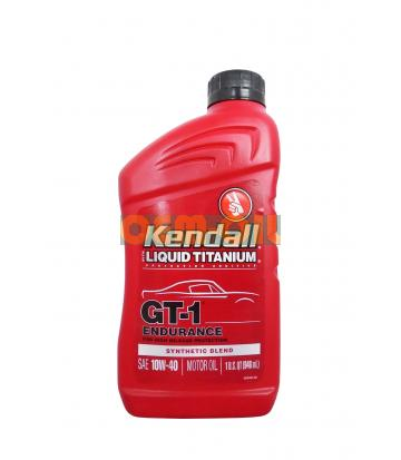 Моторное масло KENDALL GT-1 Endurance High Mileage Synthetic Blend Motor Oil with Liquid Titanium® SAE 10W-40 (0,946л)