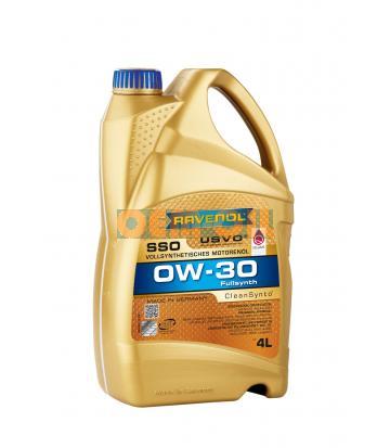 Моторное масло RAVENOL SSO SAE 0W-30 (4л) new