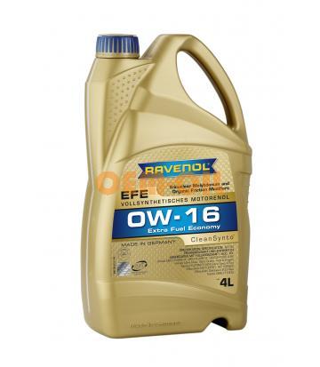Моторное масло RAVENOL EFE Extra Fuel Economy SAE 0W-16 (4л) new