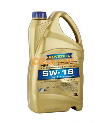 Моторное масло RAVENOL High Fuel Economy HFE SAE 5W-16 (4л) new