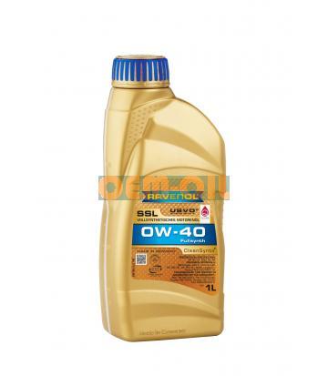 Моторное масло RAVENOL SSL SAE 0W-40 (1л) new