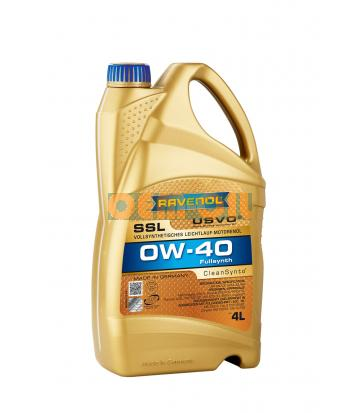 Моторное масло RAVENOL Super Synthetik Oel SSL SAE 0W-40 ( 4л) new