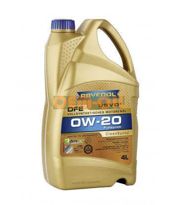 Моторное масло RAVENOL DFE SAE 0W-20 (4л)