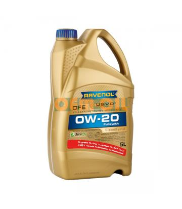 Моторное масло RAVENOL DFE SAE 0W-20 (5л) 4+1