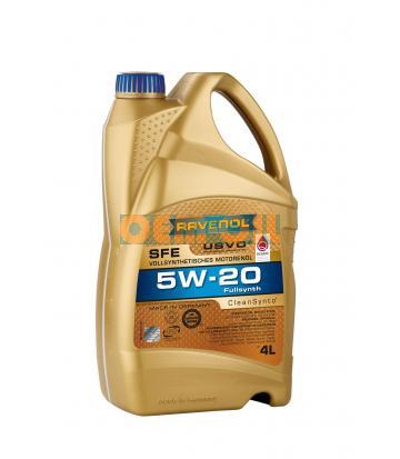 Моторное масло RAVENOL SFE SAE 5W-20 (4л) new