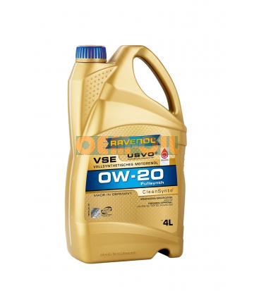 Моторное масло RAVENOL VSE SAE 0W-20 (4л)