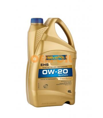Моторное масло RAVENOL EHS SAE 0W-20 (4л)