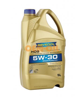 Моторное масло RAVENOL HDS SAE 5W-30 (5л) new