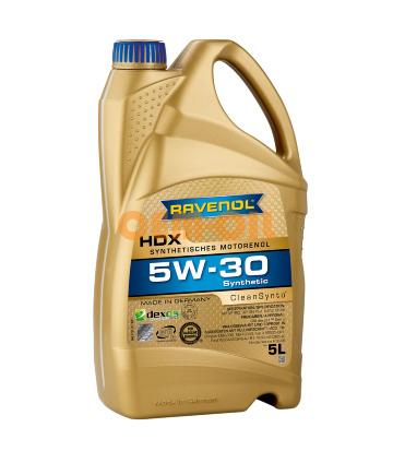 Моторное масло RAVENOL HDX SAE 5W-30 (5л)