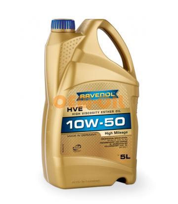 Моторное масло RAVENOL HVE High Viscosity Ester Oil SAE10W-50 (5л) new