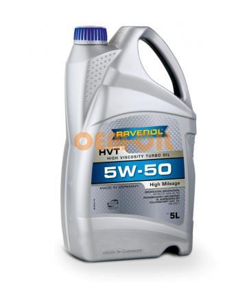 Моторное масло RAVENOL HVT High Viscosity Turbo Oil SAE 5W-50 (5л) new