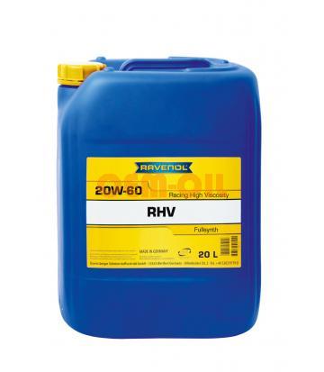 Моторное масло RAVENOL RHV Racing High Viscosity SAE 20W-60 (20л)