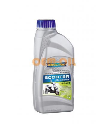 Моторное масло для 4-Такт скутеров RAVENOL Scooter 4-Takt Teilsynth. (1л) new