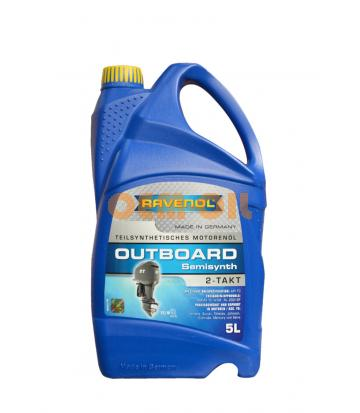 Моторное масло для 2Т лод.моторов RAVENOL Outboardoel 2T teilsynth. (5л) new