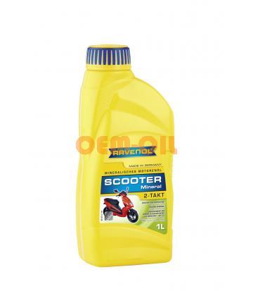 Моторное масло для 2-Такт скутеров RAVENOL Scooter 2-Takt Mineral (1л) new