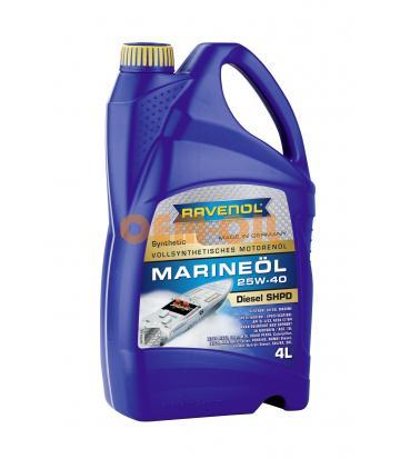 Моторное масло RAVENOL Marineoil SHPD SAE 25W-40 synthetic (4л) new