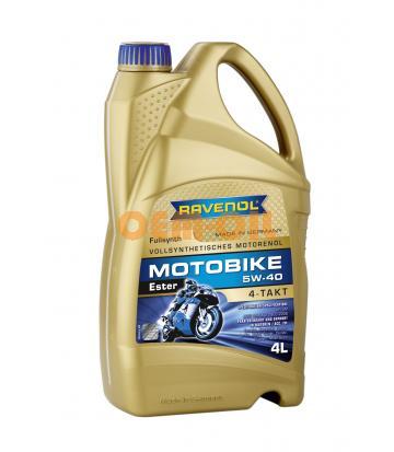 Моторное масло RAVENOL Motobike 4-T Ester SAE 5W-40 (4л) new