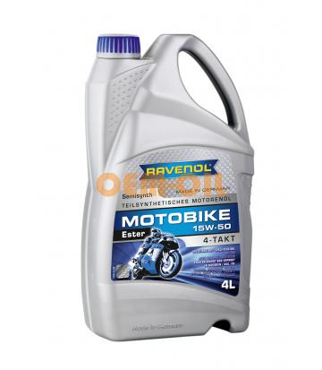 Моторное масло RAVENOL Motobike 4-T Ester 15W-50 (4л) new
