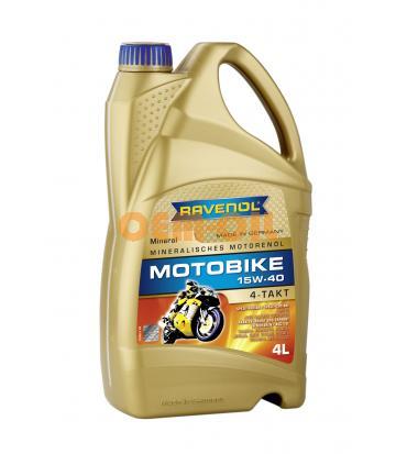 Моторное масло RAVENOL Motobike 4-T Mineral 15W-40 (4л) new
