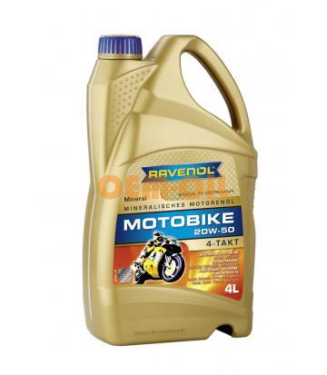 Моторное масло RAVENOL Motobike 4-T Mineral 20W-50 (4л) new