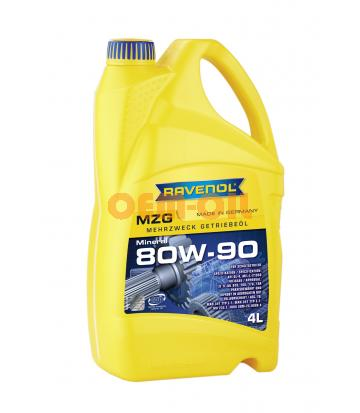 Трансмиссионное масло RAVENOL Getriebeoel MZG SAE 80W-90 GL-4 (4л) new