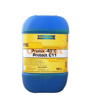 Антифриз готовый к прим. жёлтый RAVENOL TTC Traditional Technology Coolant Premix (10л)