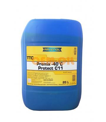 Антифриз готовый к прим. жёлтый RAVENOL TTC Traditional Technology Coolant Premix (20л)
