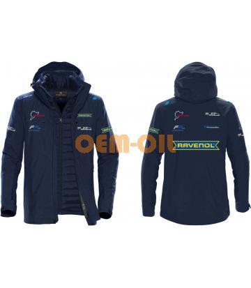 Куртка-софтшел утепленная (зимняя) RAVENOL мужская темно-синяя, разм. 3XL
