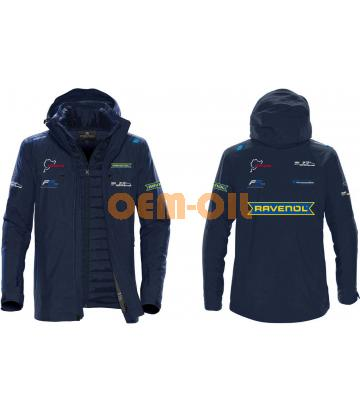 Куртка-софтшел утепленная (зимняя) RAVENOL мужская темно-синяя, разм. 2XL