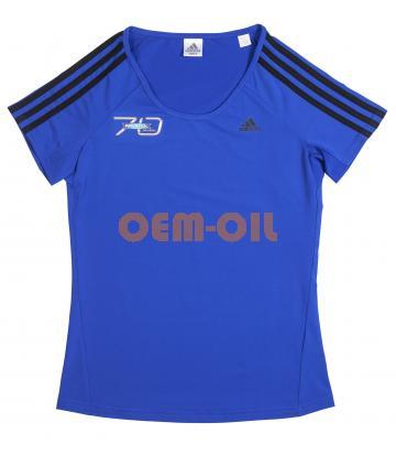 Футболка женская синяя ADIDAS с логотипом RAVENOL