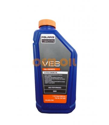 Моторное масло для 2Т двигателей PURE POLARIS VES Full Synthetic 2-Cycle Engine Oil (0,946л)