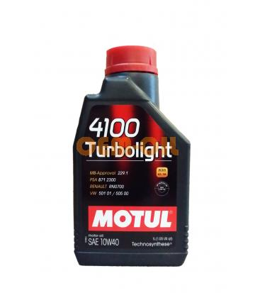 Моторное масло MOTUL 4100 Turbolight SAE 10W-40 (1л)