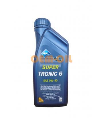 Моторное масло ARAL SuperTronic G SAE 0W-40 (1л)