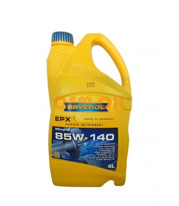 Трансмиссионное масло RAVENOL Getriebeoel EPX SAE 85W-140 GL-5 (4л) new