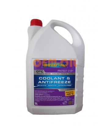Антифриз RAVENOL OTC Organic Techn.Coolant Premix -40°C (5л)